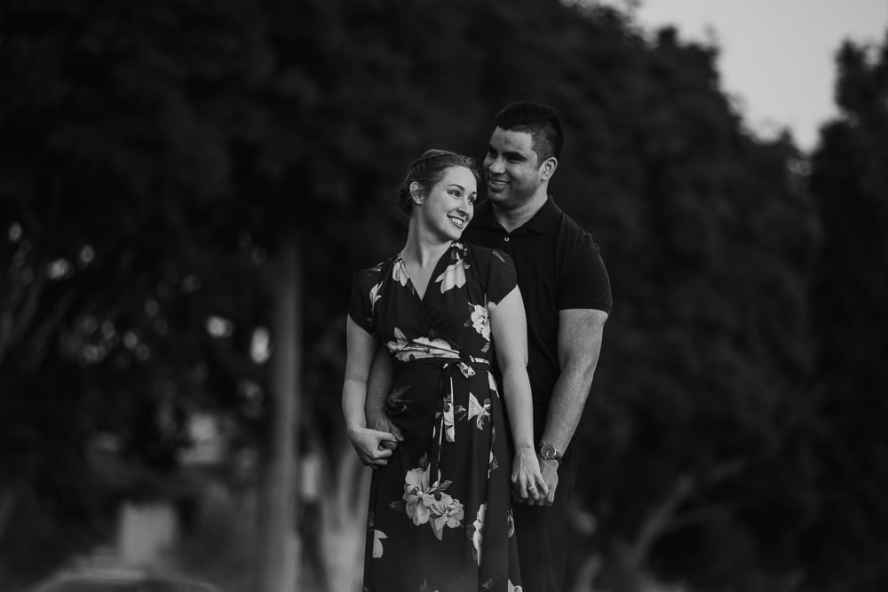 Engagement Photographer Couple Black and White