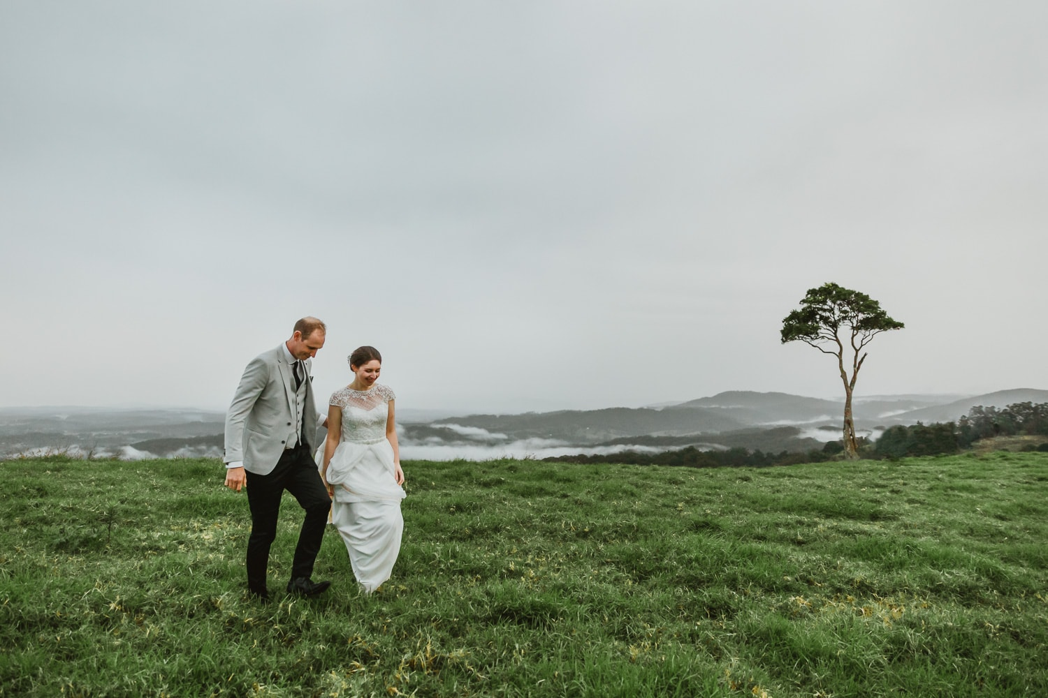 Maleny One Tree Hill Wedding Photography Bride & Groom